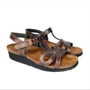 NAOT Rachel Bronze Sandals Made In Israel 38/7